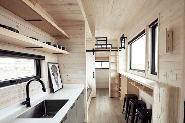 Tiny House Life in Bryan from a Shell Kit
